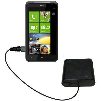 Portable Emergency AA Battery Charger Extender suitable for the HTC Titan - with Gomadic Brand TipExchange Technology