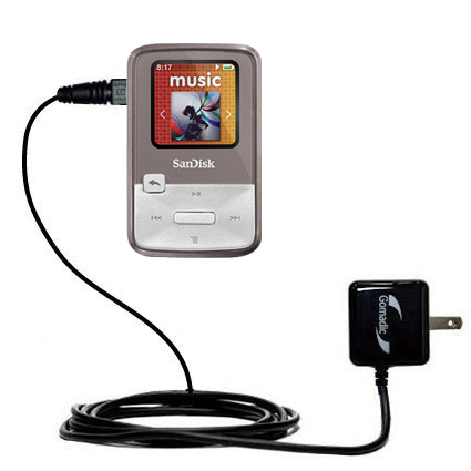 Wall Charger compatible with the Sandisk Sansa Clip Zip