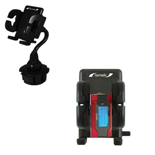 Gomadic Brand Car Auto Cup Holder Mount suitable for the iRiver T30 - Attaches to your vehicle cupholder
