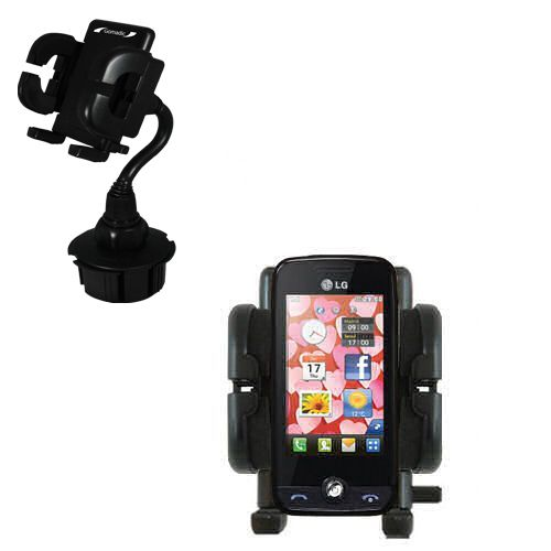 Gomadic Brand Car Auto Cup Holder Mount suitable for the LG Cookie Fresh (GS290) - Attaches to your vehicle cupholder