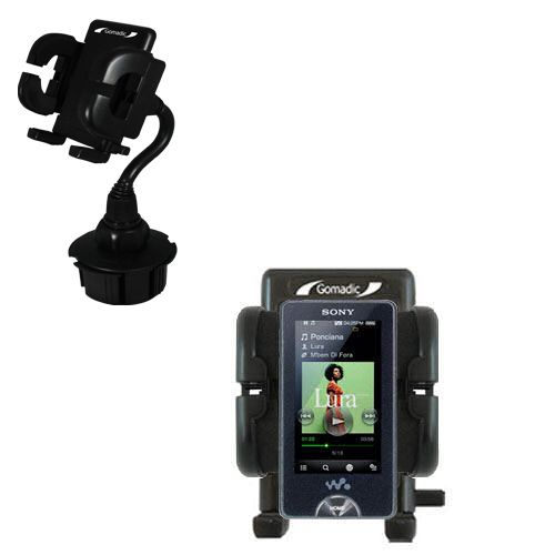 Gomadic Brand Car Auto Cup Holder Mount suitable for the Sony X Series - Attaches to your vehicle cupholder