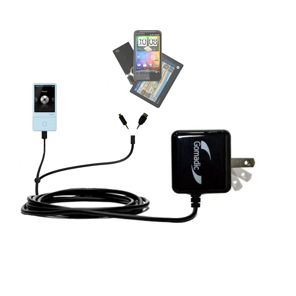 Double Wall Home Charger with tips including compatible with the iRiver E300