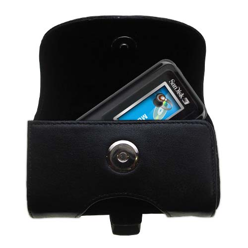 Black Leather Case for Sandisk Sansa c100