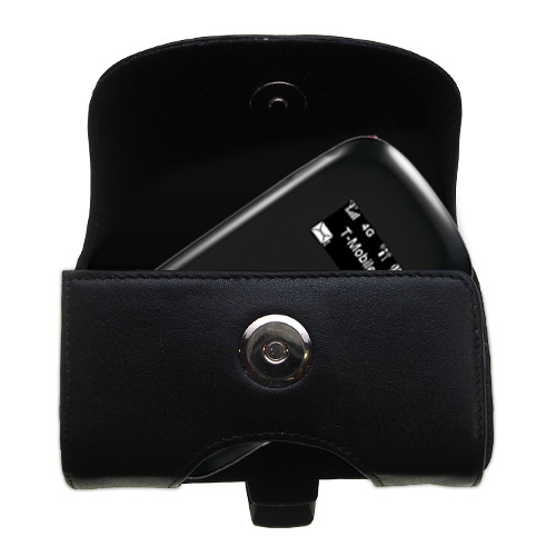 Black Leather Case for T-Mobile 4G Mobile Hotspot