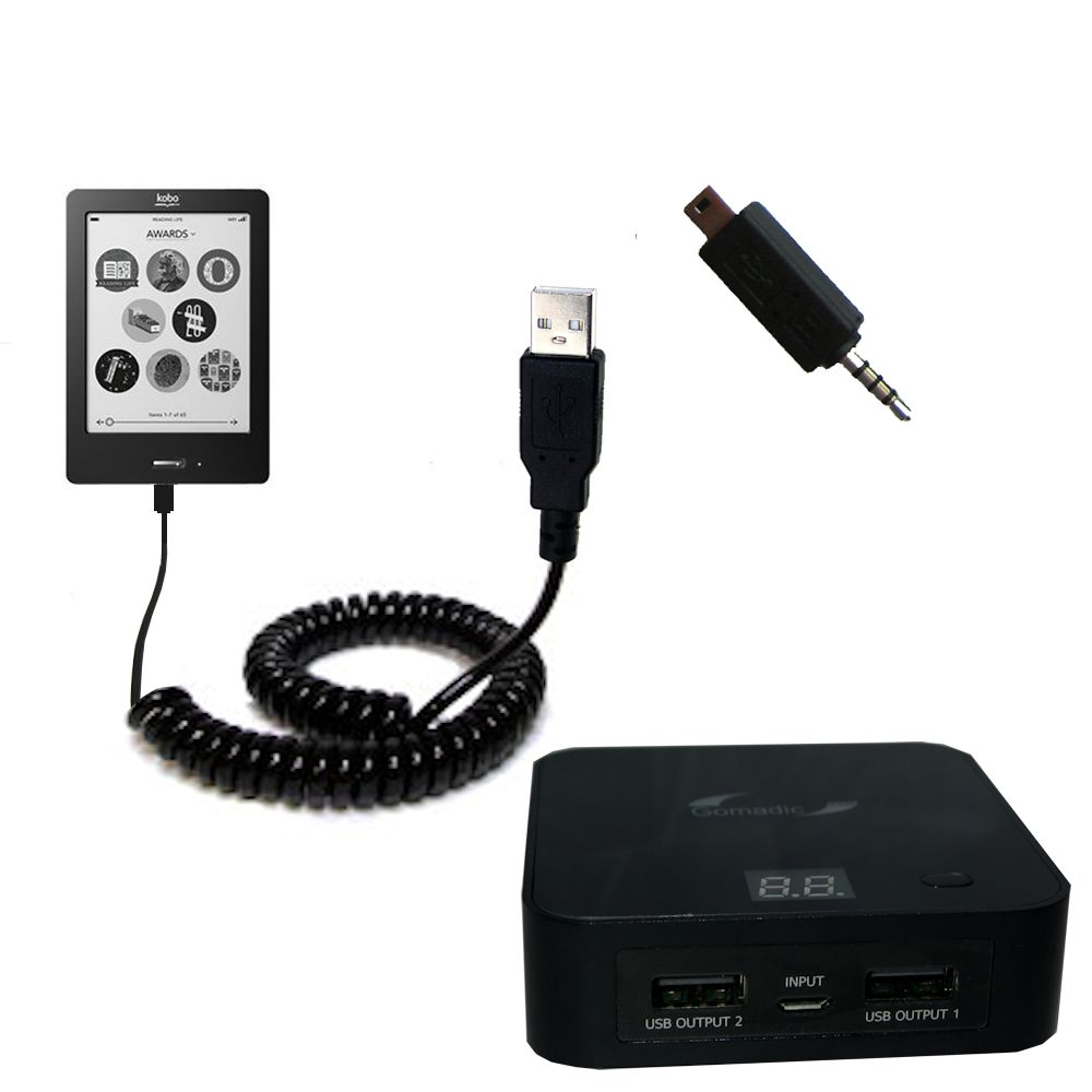 Rechargeable Pack Charger compatible with the Kobo eReader Touch
