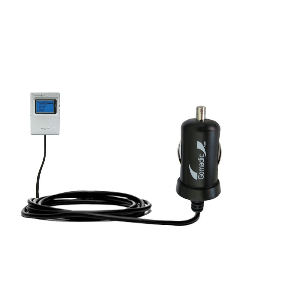Mini Car Charger compatible with the Creative Jukebox Zen NX