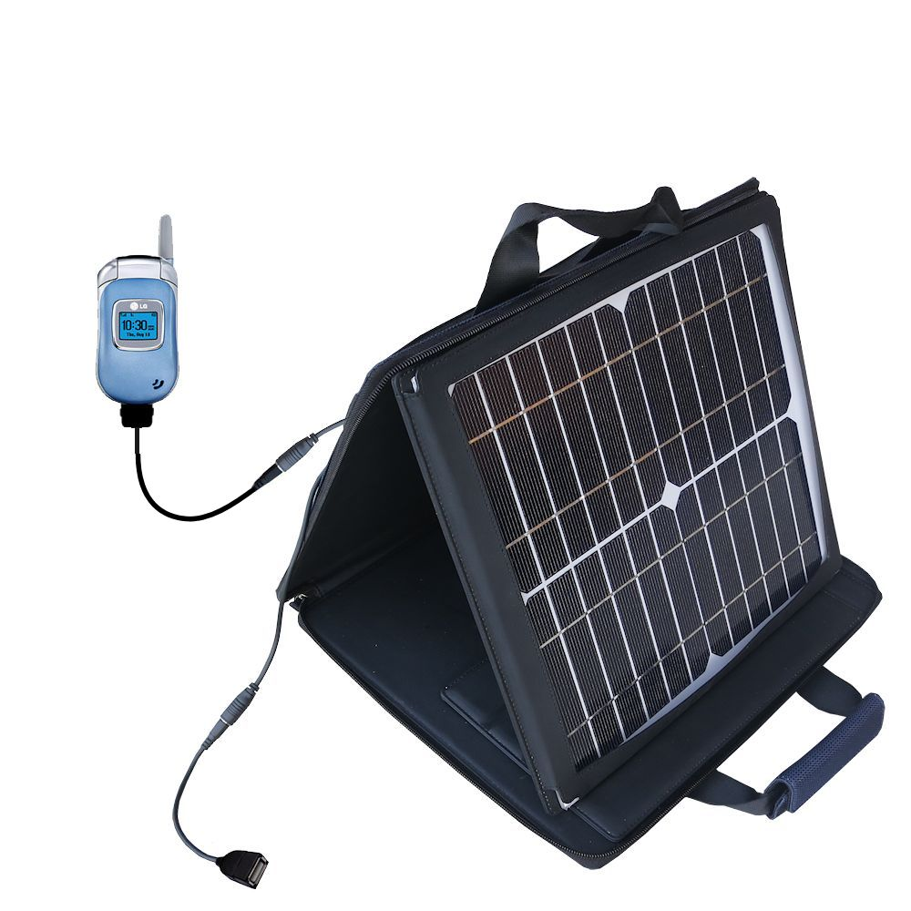 SunVolt Solar Charger compatible with the LG VX3450 and one other device - charge from sun at wall outlet-like speed