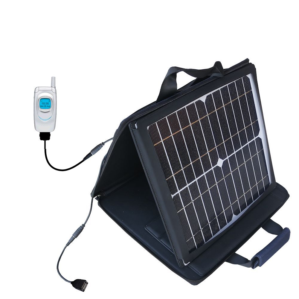 SunVolt Solar Charger compatible with the Samsung SGH-A930 and one other device - charge from sun at wall outlet-like speed