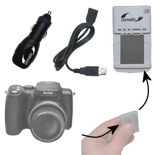 Lithium Battery Fast Charger compatible with the Kodak Easyshare Z1012