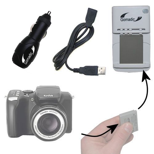 Lithium Battery Fast Charger compatible with the Kodak Easyshare Z712