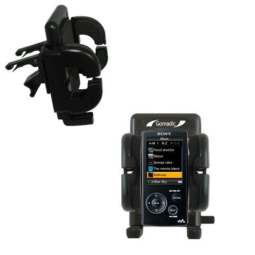 Gomadic Air Vent Clip Based Cradle Holder Car / Auto Mount suitable for the Sony Walkman NWZ-A805 - Lifetime Warranty