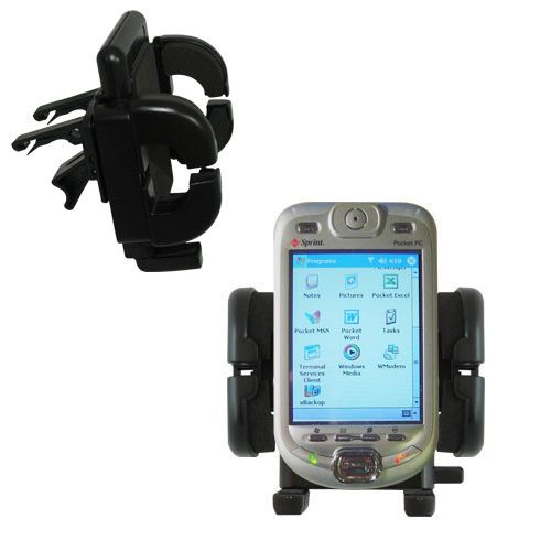 Gomadic Air Vent Clip Based Cradle Holder Car / Auto Mount suitable for the Sprint PPC-6800 - Lifetime Warranty