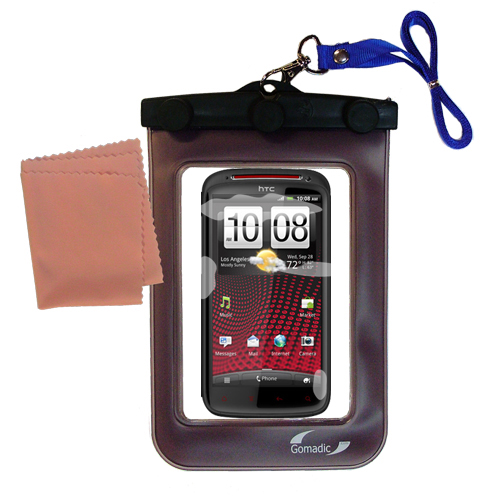 Gomadic clean and dry waterproof protective case suitablefor the HTC Sensation XE  to use underwater - Unique Floating Design