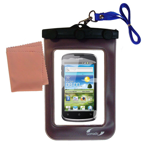 Waterproof Case compatible with the Huawei U8815 to use underwater