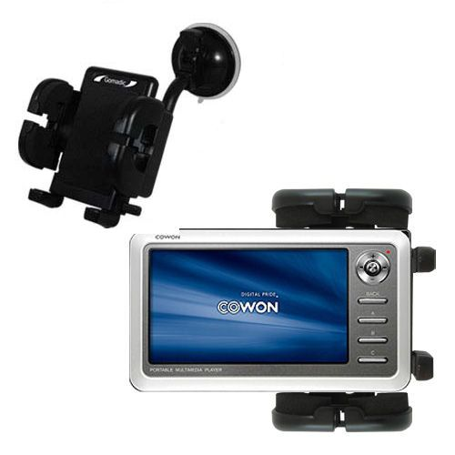 Gomadic Brand Flexible Car Auto Windshield Holder Mount designed for the Cowon iAudio A2 Portable Media Player - Gooseneck Suction Cup Style Cradle